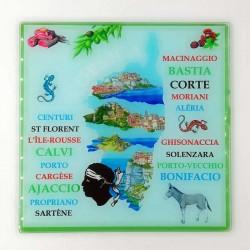 Dessous de plat en verre d/éco Corse